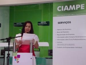 Secretária de Desenvolvimento Econômico e Vice Prefeita Madalena Santana