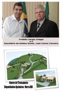 Prefeito Sergio Vidigal e Secretario Defesa Social José Carlos Carneiro