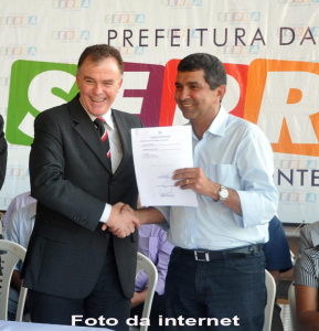 Prefeito Sergio Vidigal e Governador Renato Casagrande