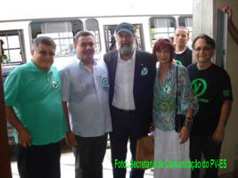 Fernando Guida, Dep. Sandro Locutor, José L. Penna,Cidinéia Fontana e José Nardoto,vice-presidente.do PV