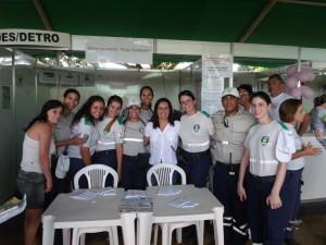 Agentes de Transito da Serra e a Vice-Prefeita Madalena Santana
