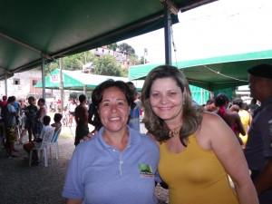 Nilza Cordeiro, Diretora do Sine da Serra e Dê Pinho do Serra Notícias