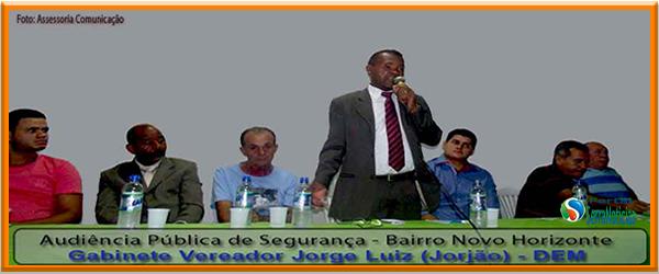 Vereador Jorjão promove Audiência Pública sobre Segurança
