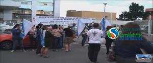 Manifestação de Professores em Serra Sede