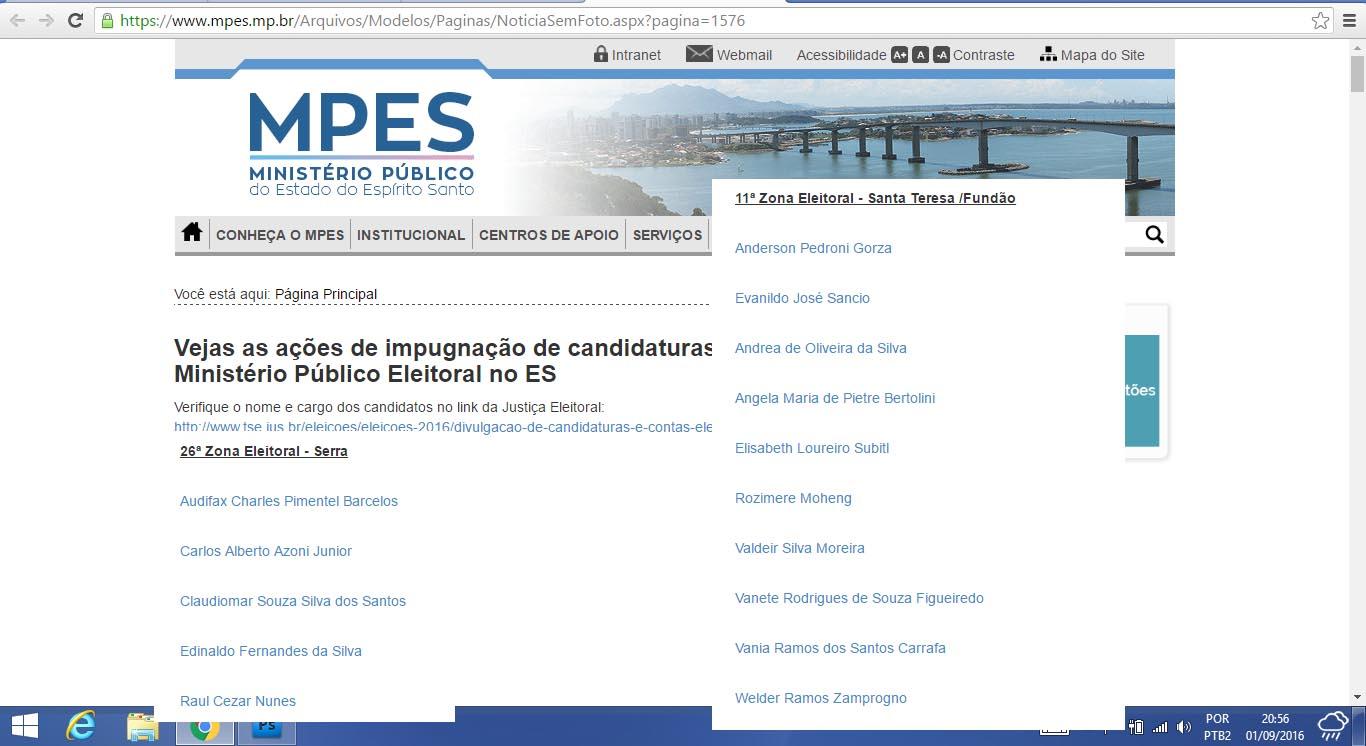 Audifax Barcelos e mais cinco candidatos da Serra, podem sofrer impugnação de suas candidaturas