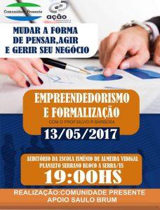 Comunidade Presente promove palestra sobre Empreendedorismo e Formalização