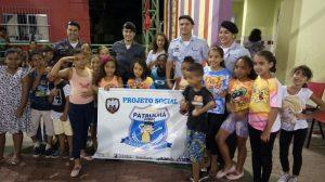 Polícia Militar desenvolve projeto social com crianças da comunidade
