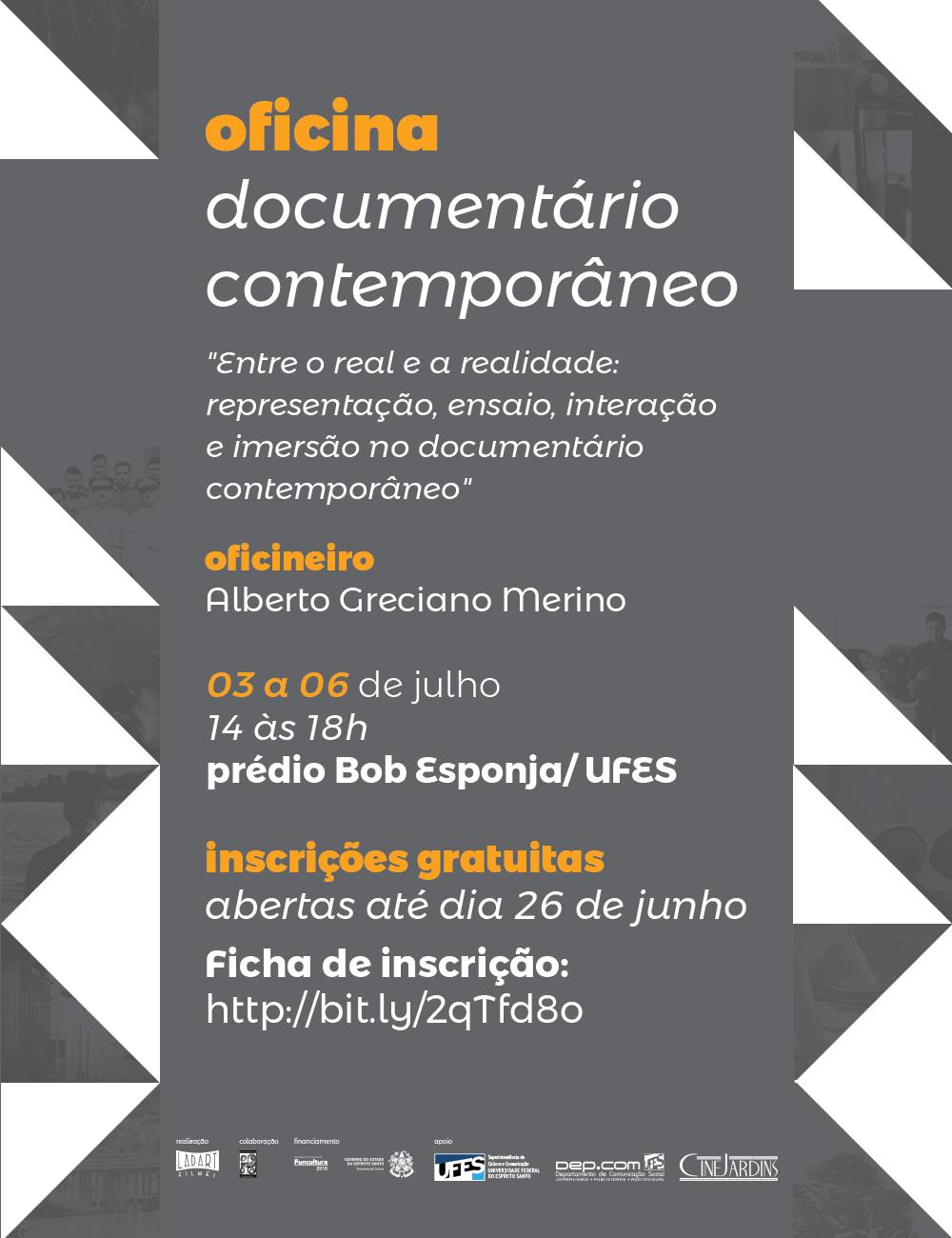 You are currently viewing Oficina sobre documentário contemporâneo com inscrições abertas